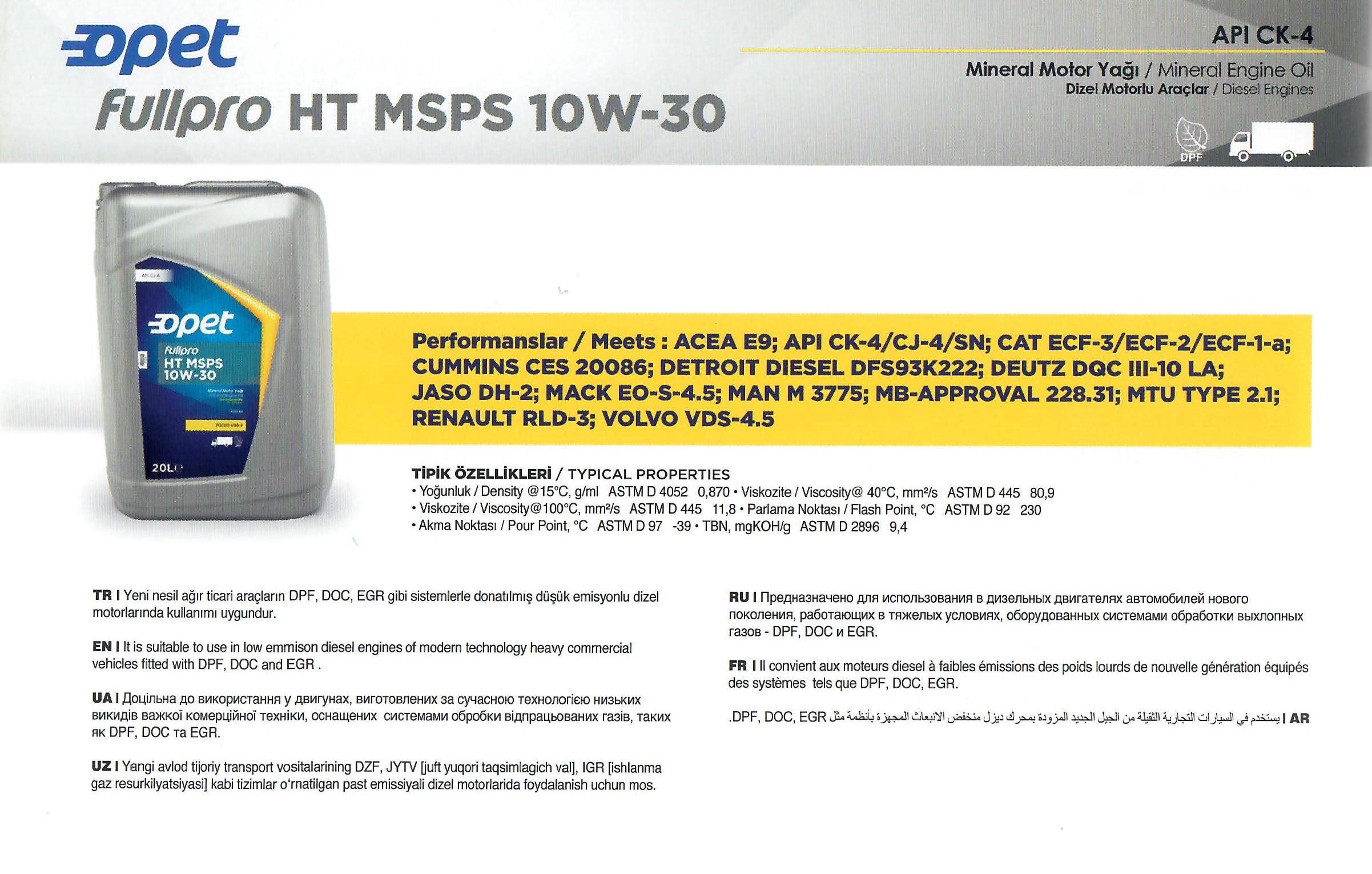 FULLPRO HT MSPS 10W-30