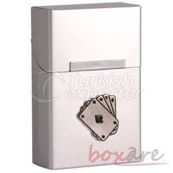 Silver Aluminum Play Card Cigaratte Case Short 33 1