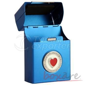 Saxe Aluminum Heart with Stone Cigar Box