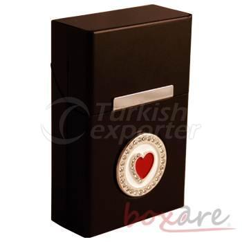 Black Aluminum Heart with Stone Rome Box