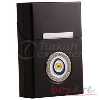 Black Aluminum with Amulet Stone Rome Box
