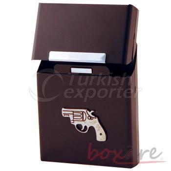Black Aluminum New Gun Cigar Box