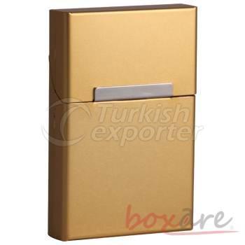 Yellow Aluminum Plain Cigar Box Short Slim