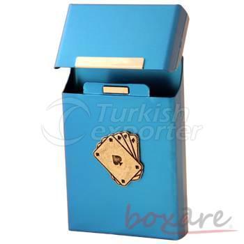 Saxe Aluminum Card Cigar Box Long