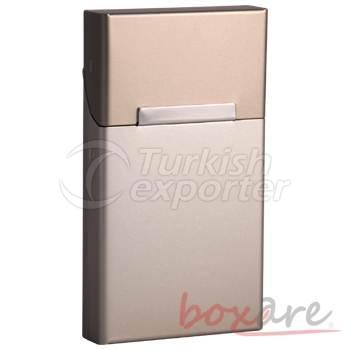 Khaki Aluminum Plain Cigar Box Long Slim