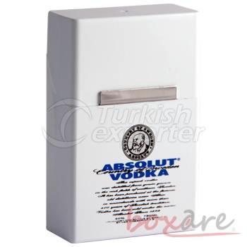 Absolut Vodka White Plastic Cigar Box Short 1