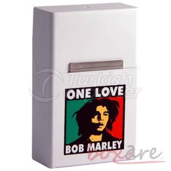 Bob Marley White Plastic Cigar Box Short