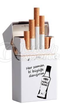 National Raki White Plastic Cigar Box Short