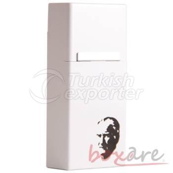 Plastic Florance Box with Printed Ataturk Silhouette