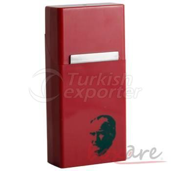 Atatürk Siluetli Bordo Plastik Sigara Kutusu Uzun Dar Slim 597 1