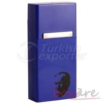 Boite à cigares bleu marine longue et fine avec Ataturk Silhouette 597 1