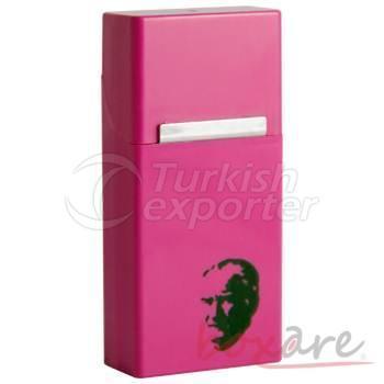 Boîte à cigares longue rose mince avec Ataturk Silhouette 595 1
