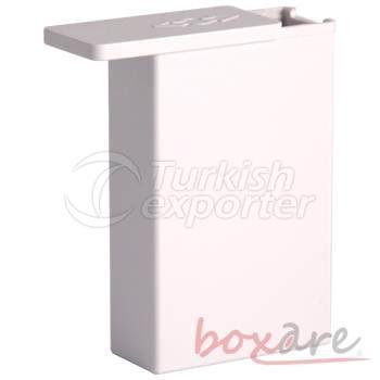 White Plastic Cigar Box Short Soft 554 1
