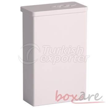 White Plastic Cigar Box Short Soft 554 2