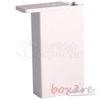 Beyaz Plastik Sade Sigara Kutusu Uzun Soft 553 1