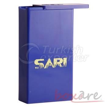Yellow and Navy Blue Fan Cigar Box Long 604 1