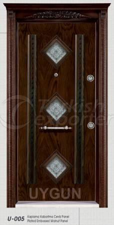 Steel Door Walnut Panel 005
