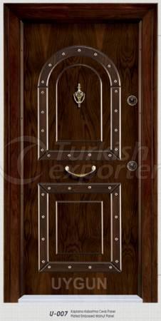 Steel Door Walnut Panel U 007