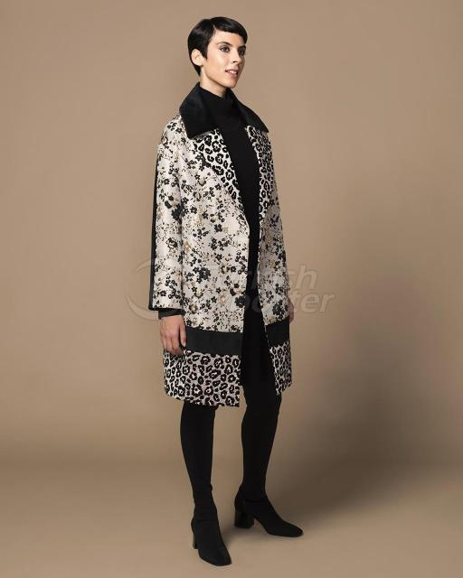 velvet-covered jacar coat