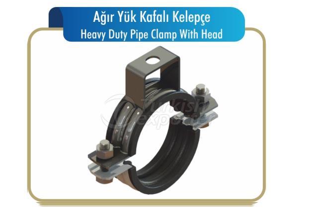 Abrazadera de tubo resistente con cabeza
