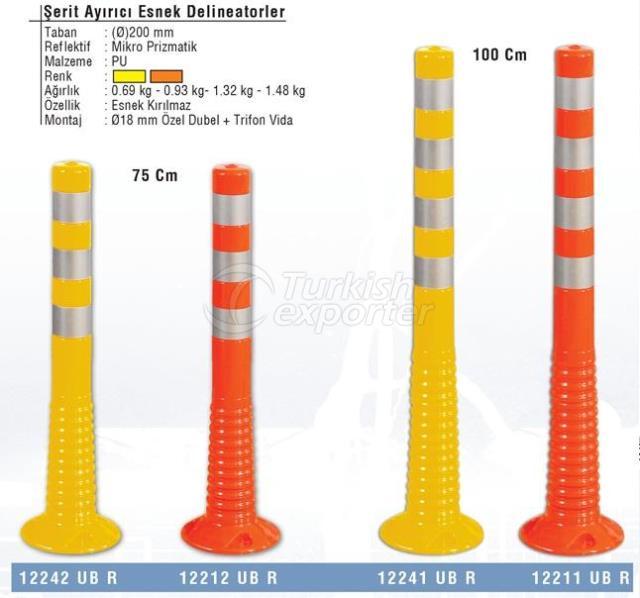 Advertencia de los separadores de tráfico