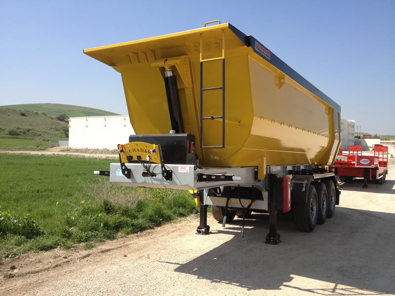 Half Pipe Tipper Trailer