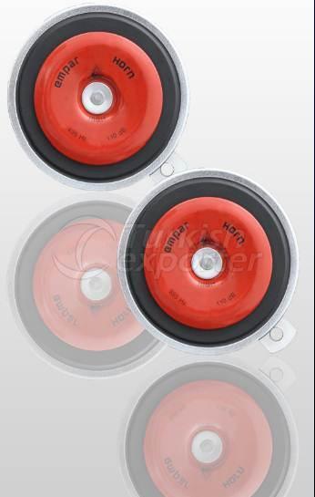 110mm Disk Siyah Korna Set