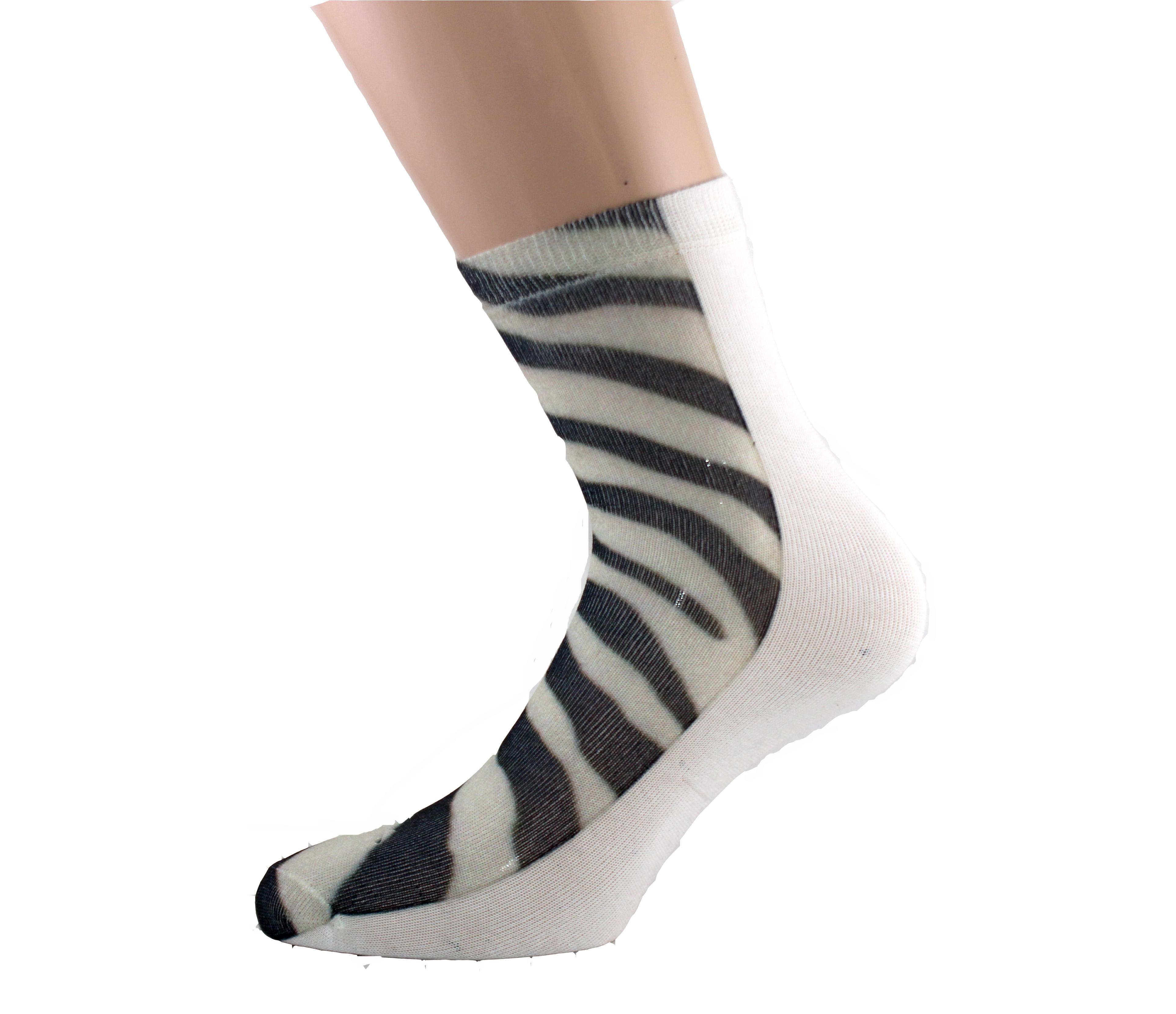 Zebra Printed Women Socks