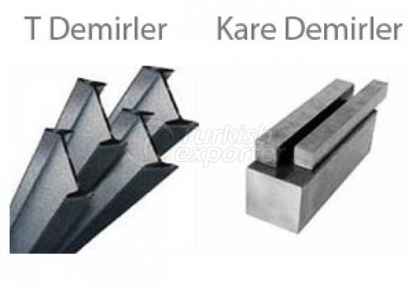 T Flat and Square Iron