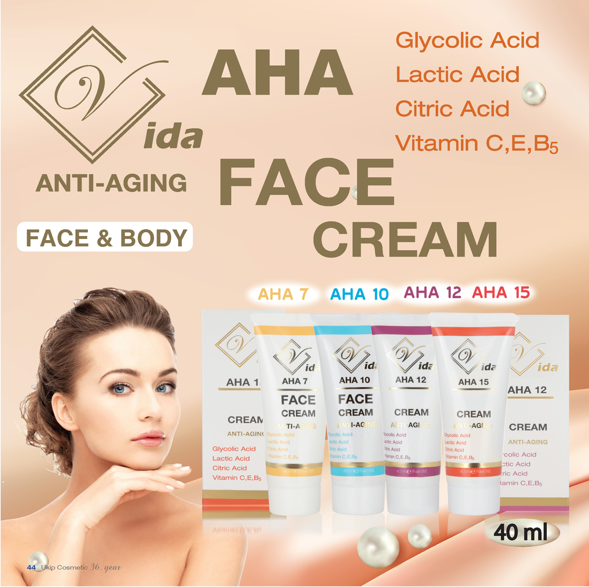 Vida AHA anti - aging face and body cream