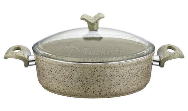 Granite Shallow Saucepan