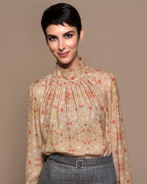 linden patterned blouse
