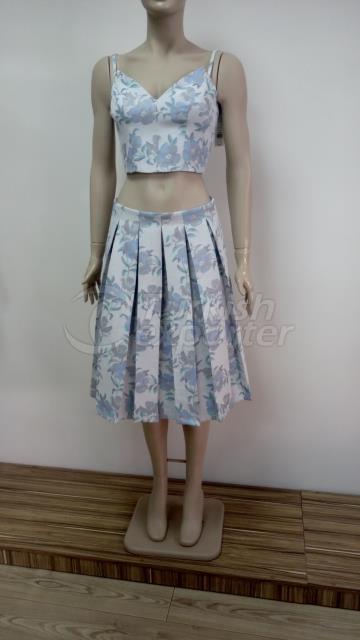 miss selfridge crop top/skirt set