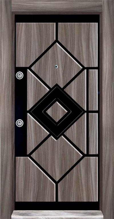 PVC Embossed Steel Door 7100
