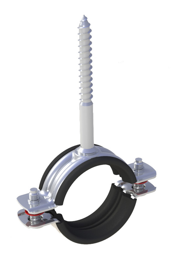 Pipe Clamp With Triphone-Pipe Clamp With Triphone without Rubber