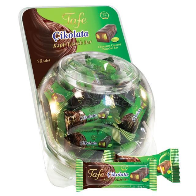 804 code Chocolate Covered Pistachio Bar 18g