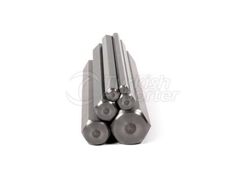 Barre hexagonale acier-fer