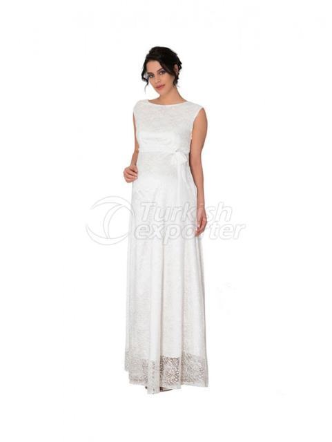 Guipure Full-Length Evening Dress
