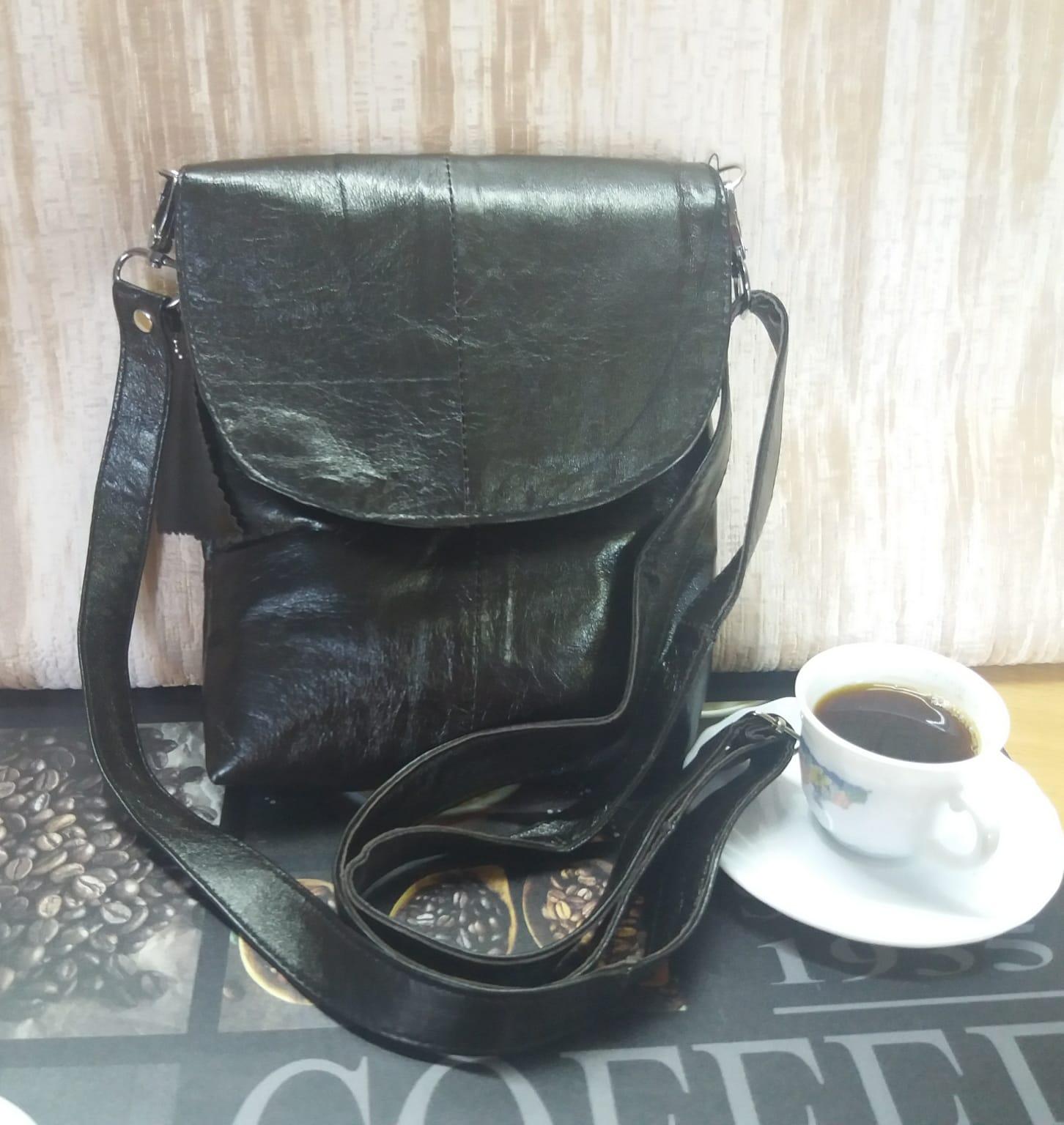 Woman shoulder bag 100% leather