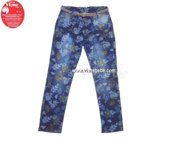 Patterned Girl Jeans