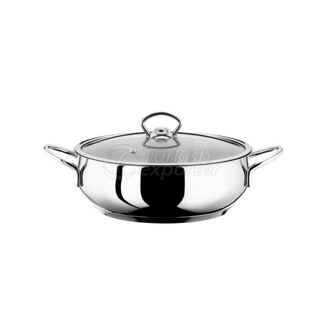 24 cm Steel Low Pot