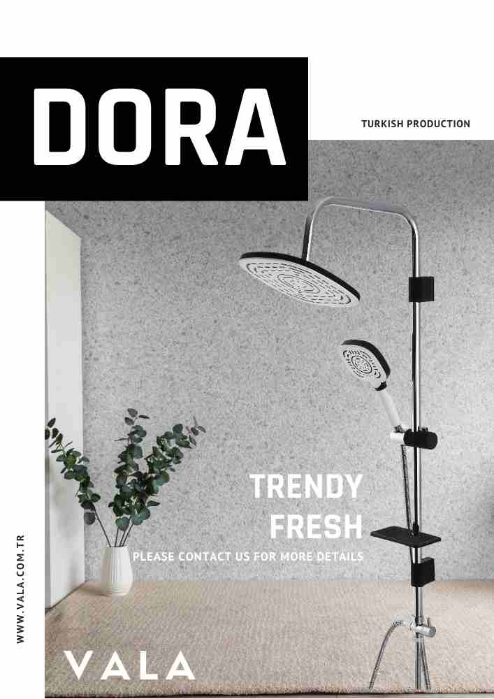 VALA DORA BLACK&WHITE SHOWER COLUMN SET