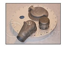 Cubierta de boca de aleación ligera de aluminio
