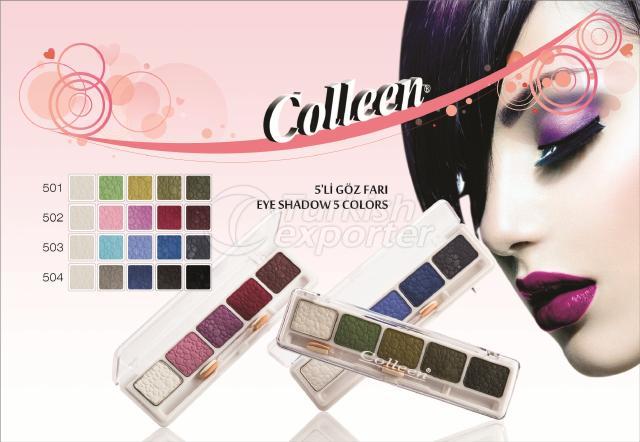 Sombra de ojos 5 colores