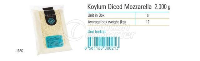 Koylum Diced Mozzarella 2000g