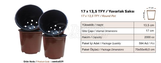 17x13,5 Pot