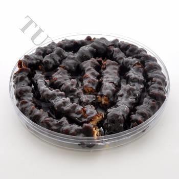 Prazer turco revestido com melaço de uva