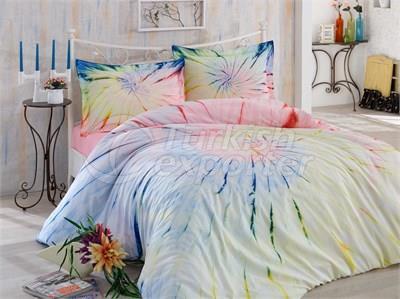 Helezon Pink - Tie-Dye Conjunto de roupa de cama de solteiro (8698499127944)