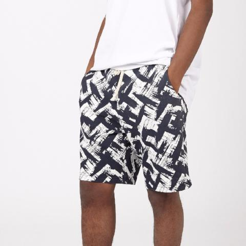 Sweat Shorts with All Over Print