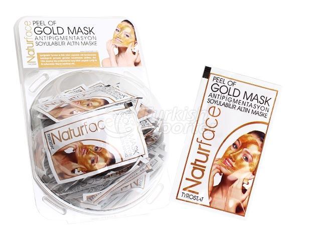 Soyulabilir Altın Maske Tek Kullanımlık 15 g X 60 Adet